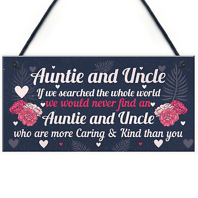 Novelty Auntie And Uncle Gifts For Birthday Christmas Gift From Niece Nephew 5056293508407 Ebay