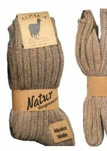 Thick Alpaca Wool Socks exta soft warm NO SMELL Men Women German Quality