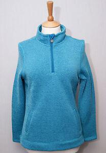 Weird-Fish-Bluebell-1-4-zip-neck-soft-knit-polyester-fleece-pullover-top-10