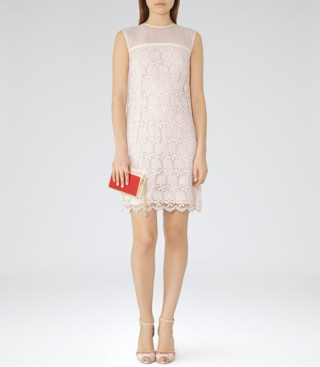 NWT REISS SHANFORD SUGAR LACE SLEEVELESS POLYESTER DRESS sz US 2
