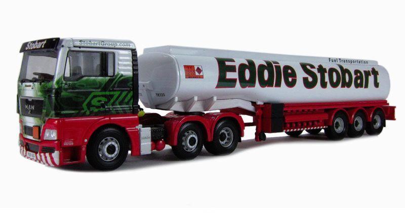 Corgi moderne schwer im cc15207 mann tgx benzin tank eddie stobart 1   50