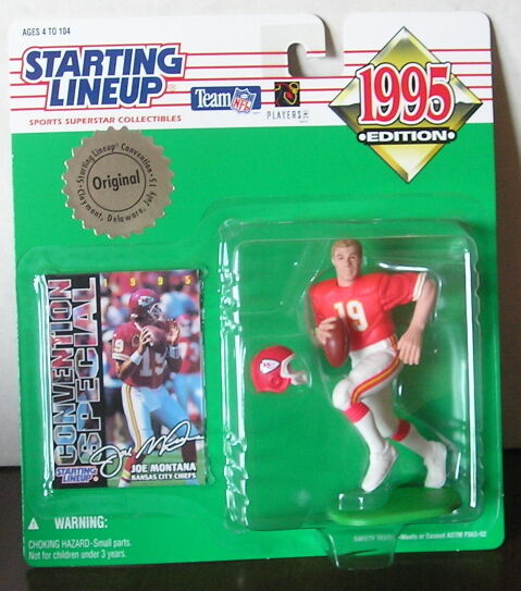1995 Joe Montana Delaware Convention Special SLU mint in pkg with football card