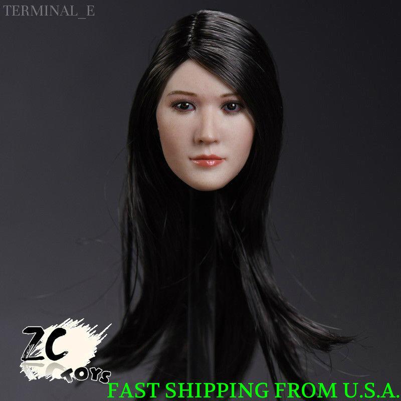 1 6 Female Asian Head Sculpt E For Hot Toys Phicen TBLeague Female Figure ❶USA❶