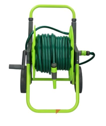 Garden Hose Outdoor Compact Cart Reel Portable Free Standing 30m Hose Included