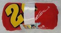 Jeff Gordon Fleece Comforter Throw With Embroidered 24 And Signature