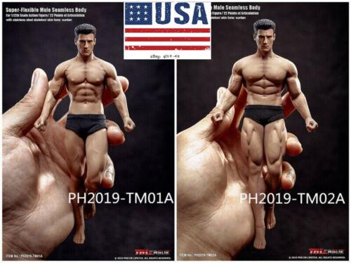 TBLeague 1//12 Male Seamless Suntan Body With Head TM01A /& TM02A Action Figure