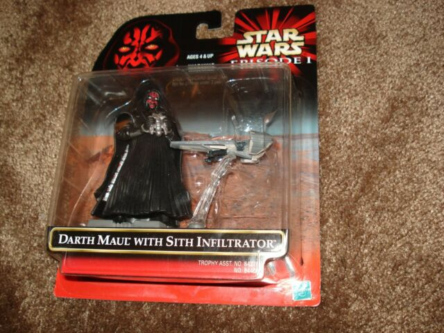 "STAR WARS 1999 EPISODE I ""DARTH MAUL WITH SITH INFILTRATOR"""