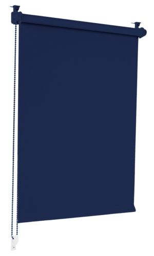 Verdunklungsrollo Dunkelblau 115x150cm Verdunkelungsrollo Seitenzug Sonnenschutz