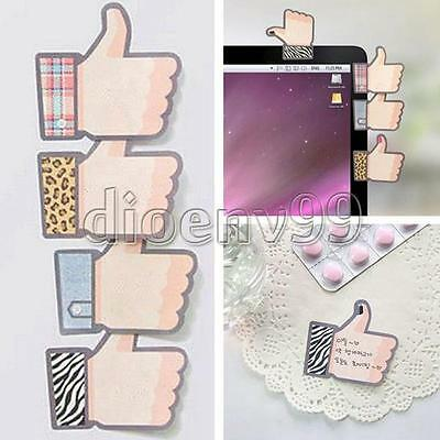 1SET New Thumb Up Sticker Paper Point Book Marker Memo Flag Sticky Note Bookmark