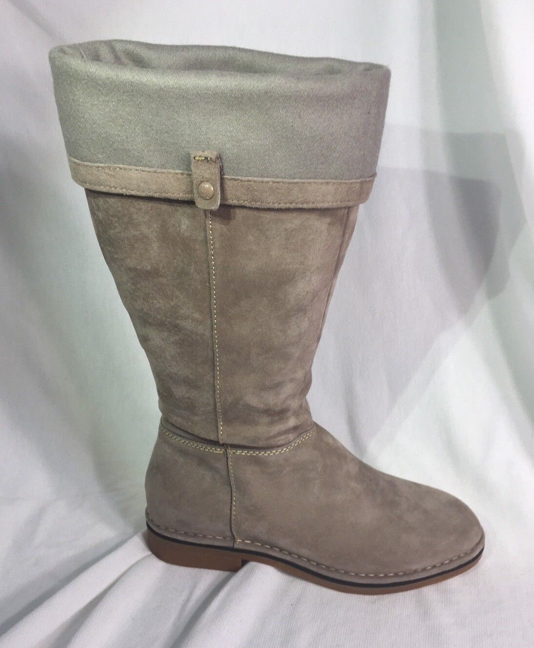 HUSH PUPPIES New CERISE CATELYN Taupe Tall Boots NIB  Women's shoes 7.5 W Wide