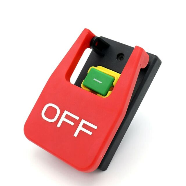 Off-On Red Cover Emergency Stop Push Button Switch 16A Power-Off/Undervolta Q3O3