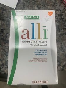 alli Weight Loss Diet Pills, Orlistat 60 mg Capsules 120 Count Refill Pack 2022+