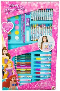 Disney-Princess-68-Piece-Art-Case-Set-Painting-Kids-Childrens-Toy-In-Carry-Box