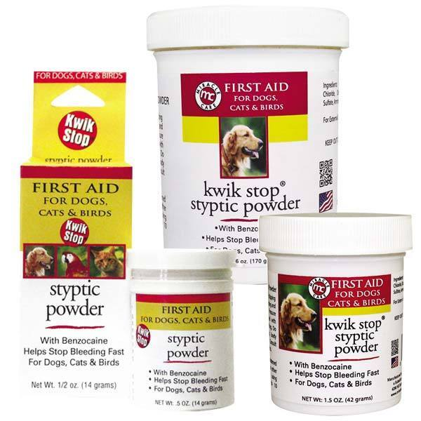 GIMBORN Kwik Stop Styptic Powder Dog Cat & Bird Nail Care  3 Sizes Available