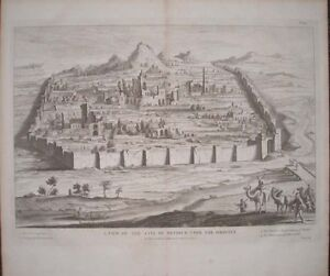 1732-ANCIENT-ANTIOCH-ORONTES-SYRIA-TURKEY-GREEK-CITY-1630-VIEW-LARGE-ENGRAVING