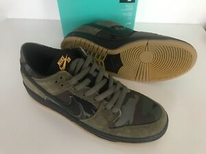 34e8568c888 New Nike SB Zoom Dunk Low Pro Camo SIZE US 6.5 Military Olive Shoes ...