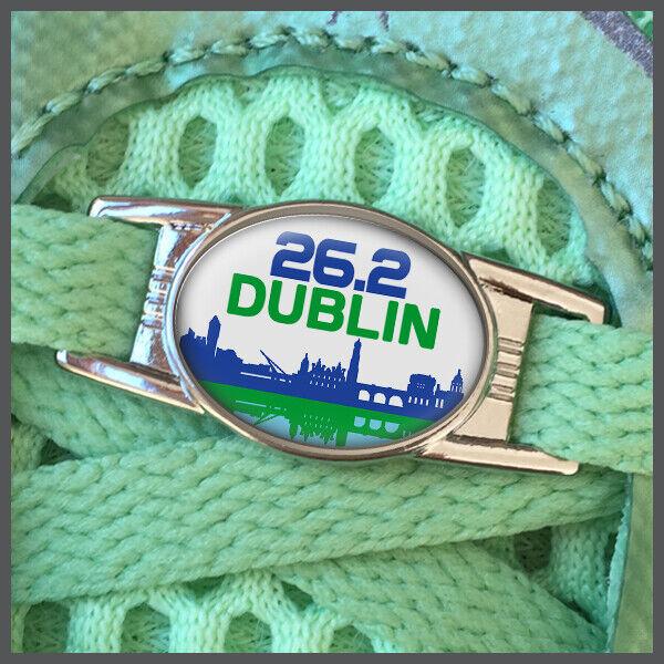 Dublin Ireland 26.2 Marathon Runners Shoelace Sneaker Shoe Charm or Zipper Pull