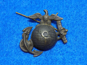 Original-Spanam-War-Era-Usmc-Esh-P1892-Ega-Desvestido-Tapa-Insignia
