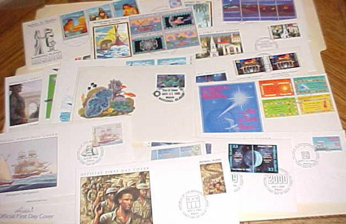 MARSHALL ISLANDS FDC 26 DIFF. 1984-2000 CACHET UNADDRESSED, 2 are ADDRESSED