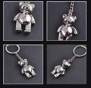 3D-Bear-Collectable-Metal-Silver-Keychain-KeyRings-Creative-Bag-Pendant-Gifts