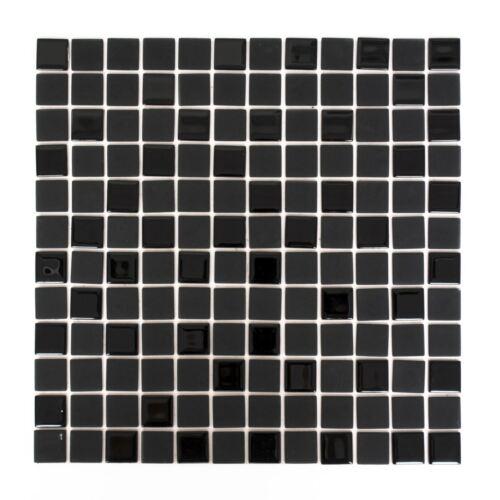 Autocollantes Glasmosaik Carreaux Miroir De Cuisine Mur Arrière noir mat wb200-4cm22
