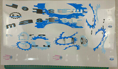 old school bmx decals stickers 91 haro sport decal set blue black grey on clear
