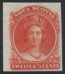 Nova-Scotia-1860-QV-12-1-2c-vermillion-trial-colour-proof-on-India-13TC