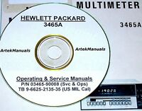 Hewlett Packard Operating & Service Manual W/schematics For 3465b Multimeter