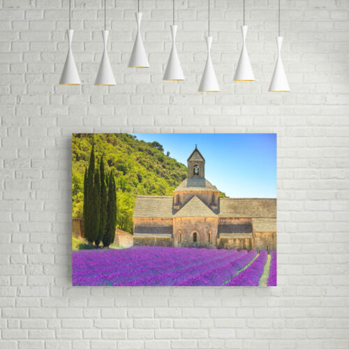 STUNNING LAVENDER FIELD LANDSCAPE CANVAS #330 QUALITY FRAMED PICTURE A1