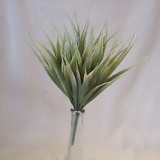 Artificial 30cm Vanilla Grass Plants - Grey Green - Decorative Plastic Plant