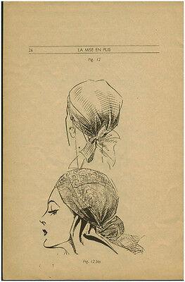 Document ancien publicité  femme technique coiffure mode année 40  P 29 No 26