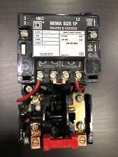Square D 8536sco2 Motor Starternon Revnema Sz1 1 Phase 2 Pole 120240v Coil