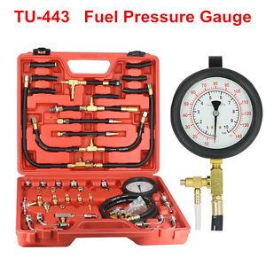 Details about TU-443 Multi Function Fuel Injection Pressure Gauge  Diagnostic Tester Kit 140PSI