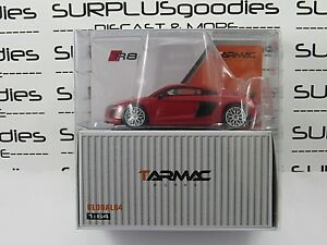 Tarmac-Works-1-64-Scale-2018-Global64-AUDI-R8-V10-Plus-Dynamite-Red-T64G-001-RE