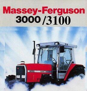 MASSEY-FERGUSON-3000-3100-TRACTOR-SERVICE-OPERATORS-MANUAL-3050-3060-3065-3070