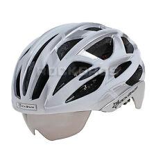 2015 RockBros Cycling Road Bike MTB Helmet Size L 57cm-62cm With Lens Silver