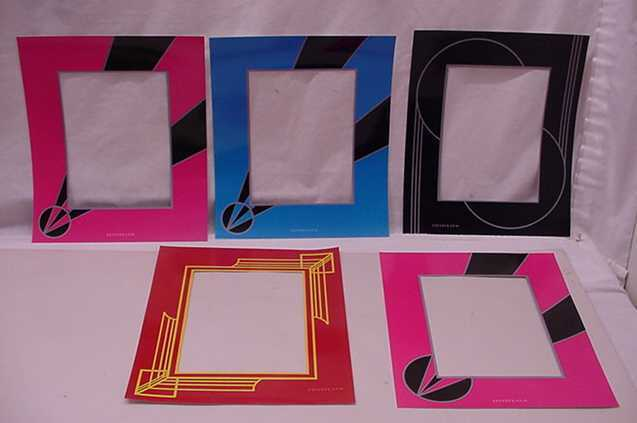8 ART DECO REVERSE PAINTED PICTURE FRAME MATS LOT 1