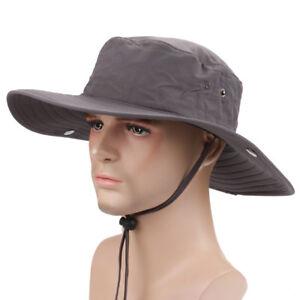 Unisex-Sun-Outdoor-New-Fishing-MENS-Hat-Caps-Hats-Cotton-Wide-Brim-Cool-AU