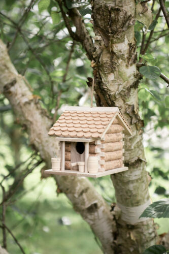 Novelty Wooden Cork Hanging Garden Bird House Box Nesting Boxes Feeder Hotel
