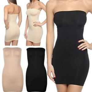 9e2007812f08 Image is loading Womens-Shapewear-Bodycon-Dress-Tummy-Waist-Control-Tube-