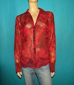 chemise-FAITH-CONNEXION-en-voile-rouge-Taille-Large-ou-40-EXCELLENT-ETAT