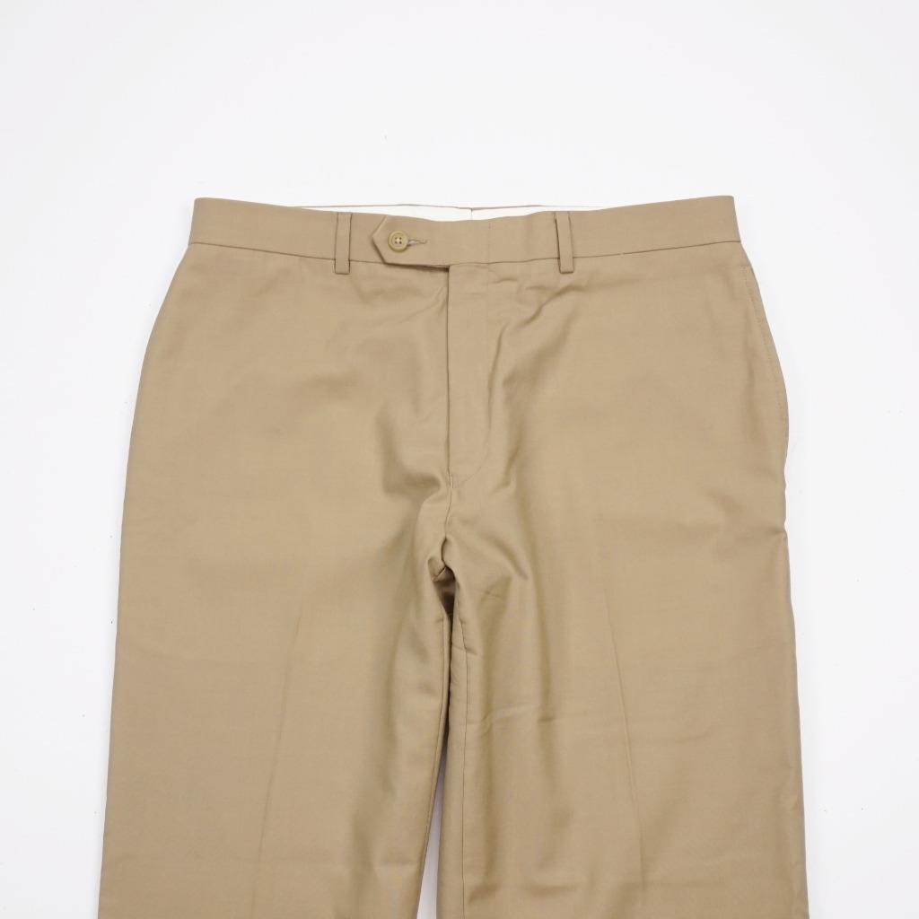 LAUREN Ralph Lauren Total Comfort Lined Flat Front Wool Dress Pants Mens 33x30