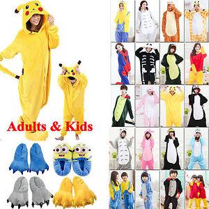 Kids-Adults-Animal-Kigurumi-Pajamas-Cosplay-Onesi1-Sleepwear-Costumes-Unisex