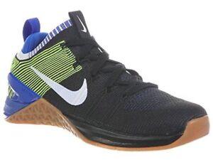 Nike Metcon DSX Flyknit 2 Mens Training Shoe Black White Racer Blue ... b3da61014ac4