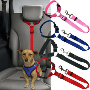 Chien-Chat-Pet-Safety-De-Siege-De-Voiture-Safe-Belt-Harnais-Leash-Travel-Strap