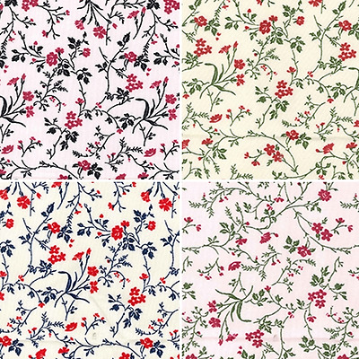 100/% Cotton Poplin Fabric Rose /& Hubble Floral Ditsy Leaf Dream Flowers