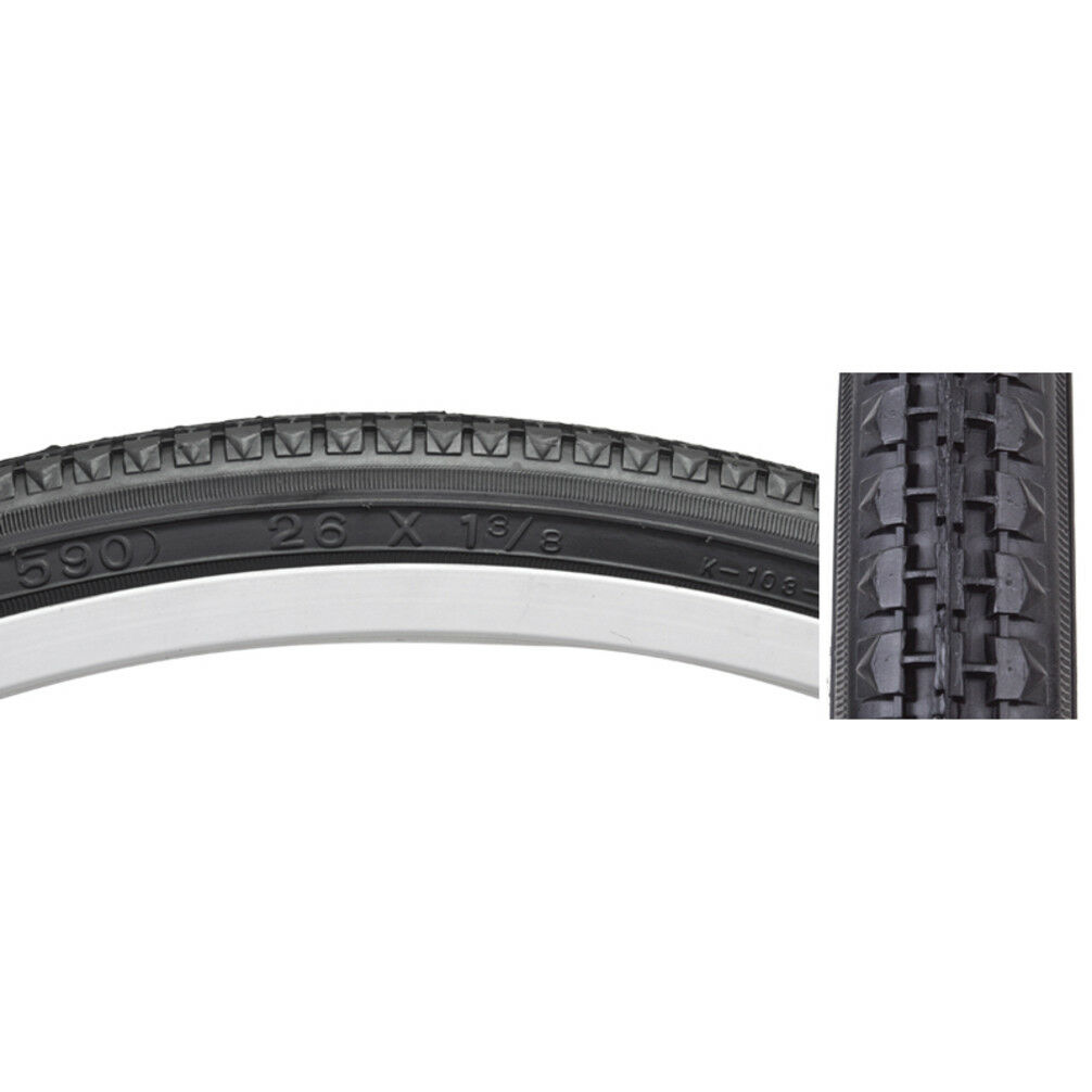 Sunlite Tire 26X1.75 Black//Black Street K123