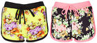 Womens Summer High Waist Casual Floral Beach Hot Pants Ladies Shorts Runner Bott