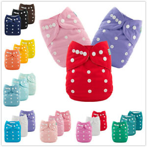 3PCS-Solid-Color-Baby-Cloth-Diapers-Reusable-Washable-Boy-Girl-Pocket-Nappies