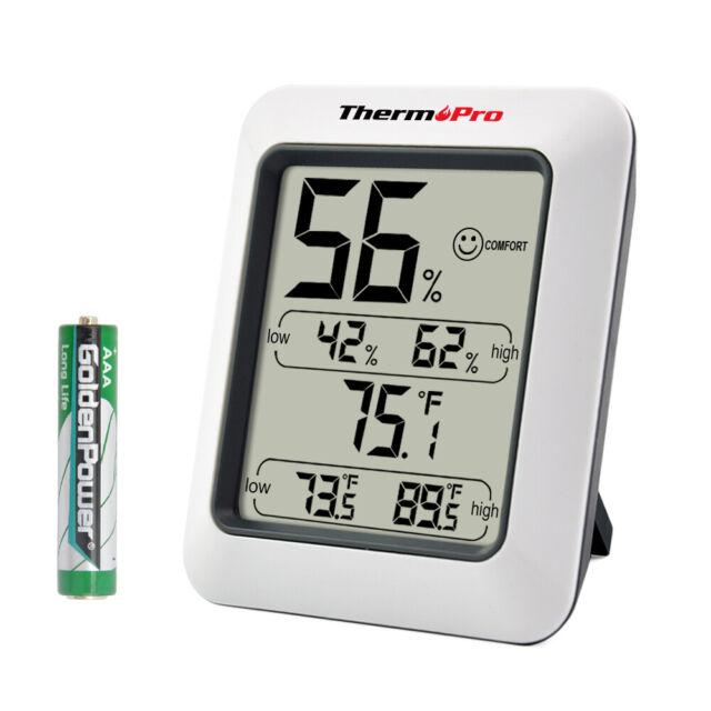 Indoor//Outdoor Thermometer Hygrometer Meter Temperature HumidityU Hn  ia